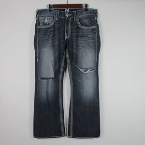 TRUE RELIGION Mens 'Billy' Torn Knee Jeans 33""